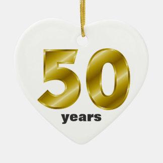 50年間の結婚- Personalizable セラミックオーナメント