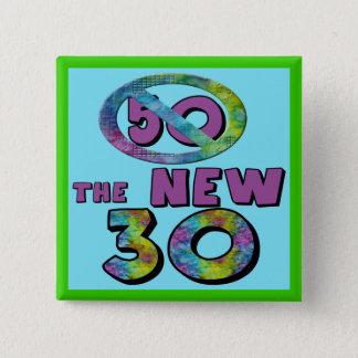 50新しい30の誕生日の好意ボタン 5.1CM 正方形バッジ