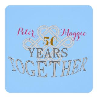50結婚記念日 13.3 スクエアインビテーションカード