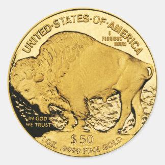 $50金貨のアメリカのバッファロー(6/20パック) ラウンドシール