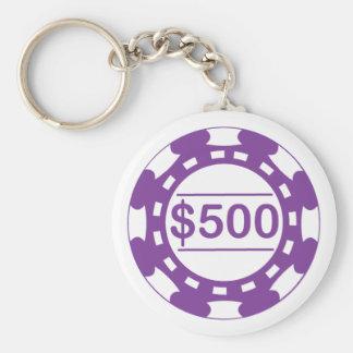 $500のカジノの破片Keychain キーホルダー