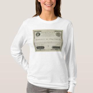 500のlivresの銀行券、1791年6月19日 tシャツ