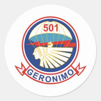 501stパラシュートの歩兵連隊の (PIR)記章 ラウンドシール