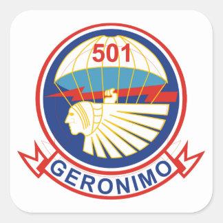 501stパラシュートの歩兵連隊 スクエアシール