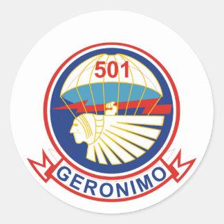 501stパラシュートの歩兵連隊 ラウンドシール