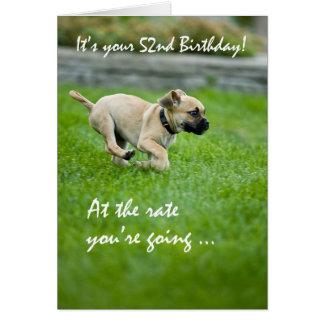 502nd誕生日の子犬のランニング カード
