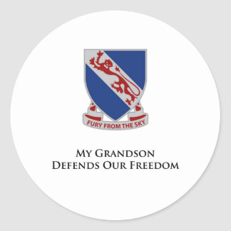 508th孫は私達の自由を守ります ラウンドシール