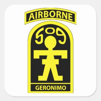 509thパラシュートの歩兵連隊 (PIR)- GERONIMO スクエアシール