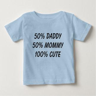 50%のお父さん50%のお母さんかわいい100% ベビーTシャツ