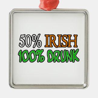 50%のアイルランド語、酔った100% メタルオーナメント