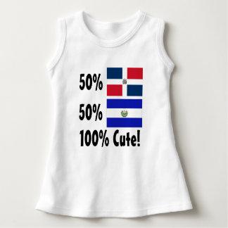 50%のドミニコ共和国人50%エルサルバドル人かわいい100% ドレス