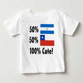 50%のニカラグア人50%のチリ人かわいい100% ベビーTシャツ