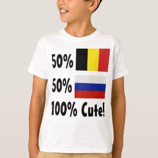 50%のベルギー人50%のロシア語かわいい100% Tシャツ