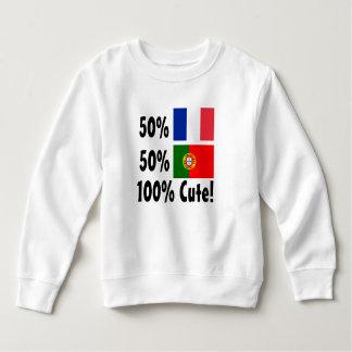50%のポルトガル人50%のフランス語かわいい100% スウェットシャツ