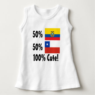50%のEcuadorian 50%のチリ人かわいい100% ドレス