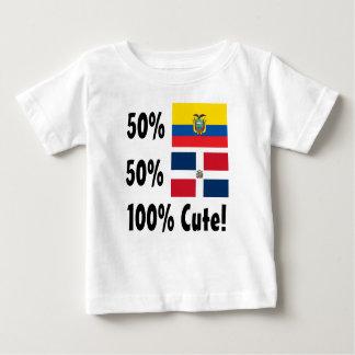 50%のEcuadorian 50%のドミニコ共和国人かわいい100% ベビーTシャツ