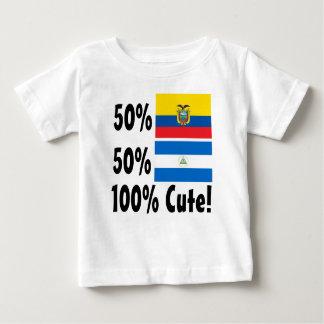 50%のEcuadorian 50%のニカラグア人かわいい100% ベビーTシャツ