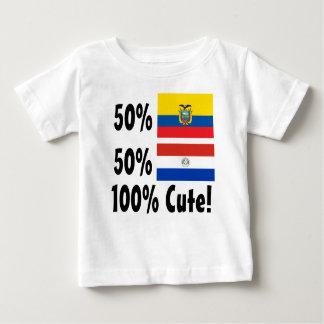50%のEcuadorian 50%のParaguayanかわいい100% ベビーTシャツ
