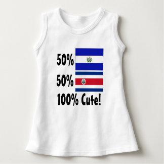 50%エルサルバドル人50%のコスタリカ人かわいい100% ドレス