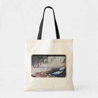 50. 土山宿、広重土山町juku、Hiroshige、Ukiyo-e トートバッグ