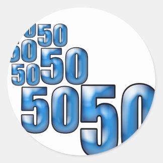 50 50 50 ラウンドシール