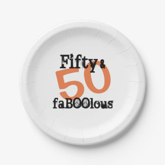 50 and Fabulous Halloween - Fifty and FaBOOlous ペーパープレート