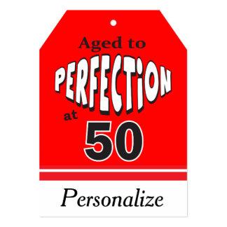 50% pipe%の第50誕生日で完全さに老化させて下さい 12.7 x 17.8 インビテーションカード