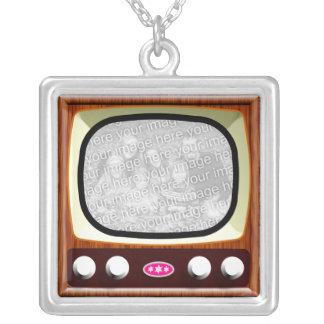 50sテレビのテンプレート シルバープレートネックレス