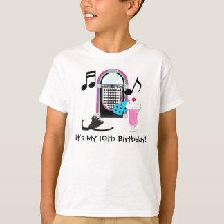 50sホツプの誕生日のカスタムのTシャツ Tシャツ
