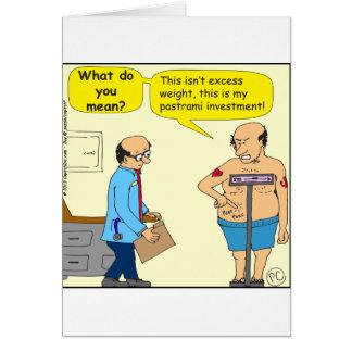 516パストラーミの投資の漫画 グリーティングカード