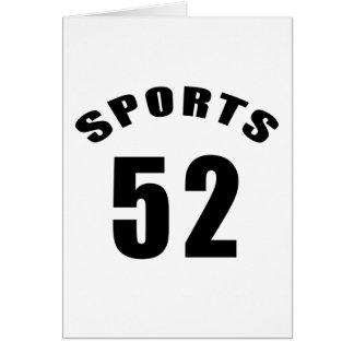 52のスポーツの誕生日のデザイン カード
