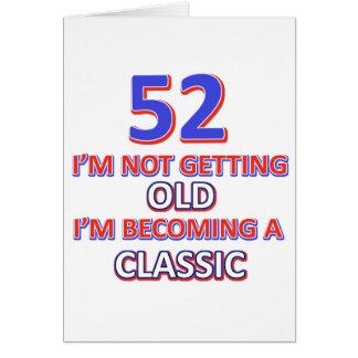52の誕生日のデザイン カード