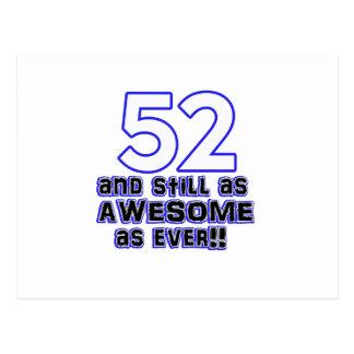 52の誕生日のデザイン ポストカード