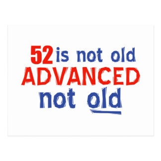 52歳の誕生日のデザイン ポストカード