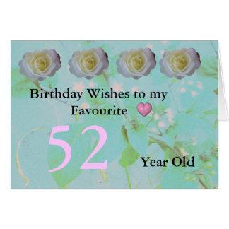 52誕生日 カード