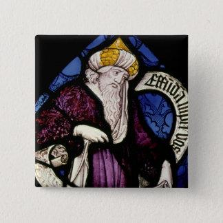 52: 予言者Ezekiel、15世紀のRoundel 5.1cm 正方形バッジ