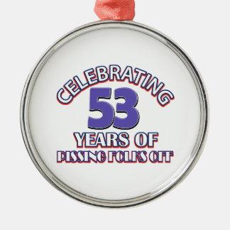 53年間の上昇地獄を祝うこと メタルオーナメント