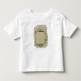 53: 鏡フレーム、着色されるの未完成の刺繍 トドラーTシャツ