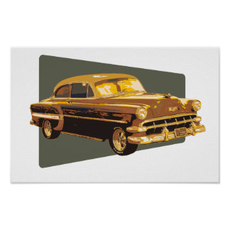 54 Chevy ポスター