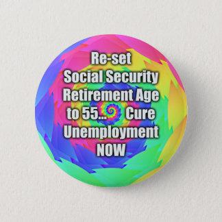 55に定年を再調節して下さい。 社会保障 缶バッジ