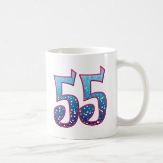 55の年齢の激賞 コーヒーマグカップ