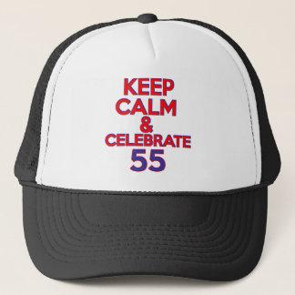55の誕生日のデザイン キャップ