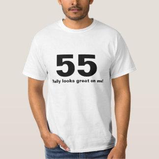 55は実際に私で素晴らしく見ます Tシャツ