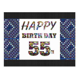 55第55に挨拶するhappybirthdayハッピーバースデー ポストカード