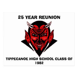 555の1982年、25 YのTIPPECANOEの高校の授業… ポストカード