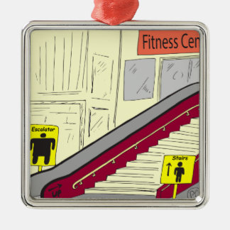 558エスカレーターまたは階段漫画 メタルオーナメント