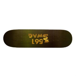 561市外局番のスワッグ 20CM スケートボードデッキ