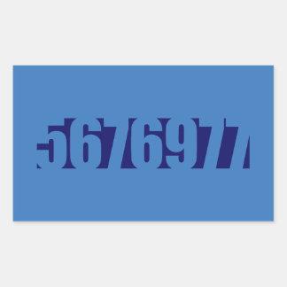 5676977 -治療 長方形シール