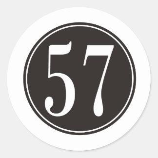 #57黒い円 ラウンドシール