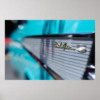 」57 Chevyのテールフィンポスター ポスター